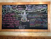 Menu at Port Townsend Brewery